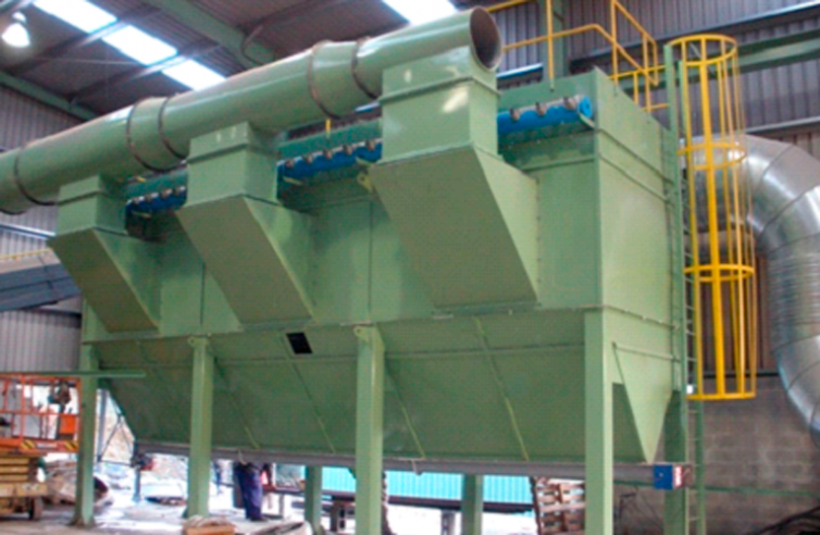 BAG FILTER FOR ALUMINA POWDER